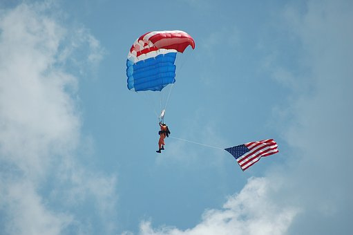 Skydiver, Parachute, Extreme, Sport, Skydiving