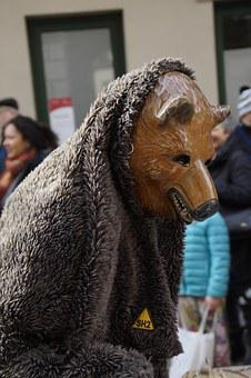 Bear, Fur, Animal Figure, Tiermaske, Figure, Fool