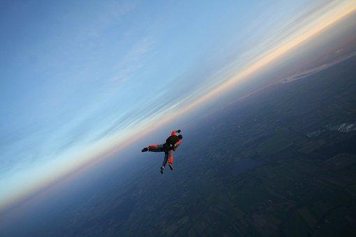 Skydive, Sky, Float, Flying, Sport, Tandem Jump, Hobby