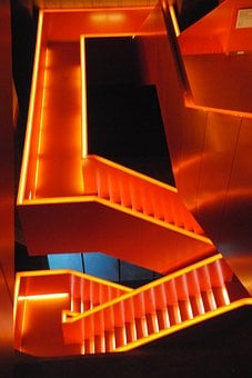 Stairs, Futuristic, Architecture, Gradually