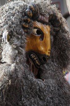 Bock, Goat Barn, Tiermaske, Fur, Figure, Fool