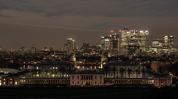 Greenwich, Old Royal Naval College, Canary Wharf