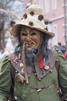 Waldschrat, Man, Male, Hat, Pipe, Forest Spirit, Figure
