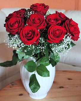 Bouquet Of Roses, Baccara Roses, He Loved Flowers