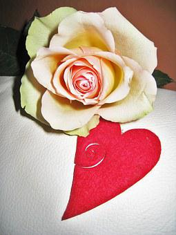 Rose, Heart, Valentine's Day, Greeting, I Love You