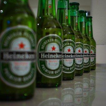 Beer, Heineken, Green, Drink, Drinking, Soft, Fresh