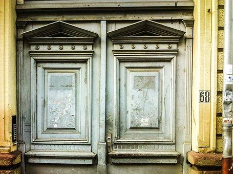 Input, Door, Old, Wood, House Entrance, Front Door