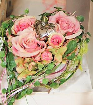 Heart With Roses, Rose Heart, Mother's Day, I Love You