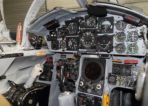Aircraft, Fighter, Cockpit, Instrument, Panel, Gauges