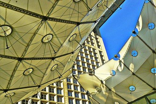 Paris, Architecture, La Défense, Roof Construction