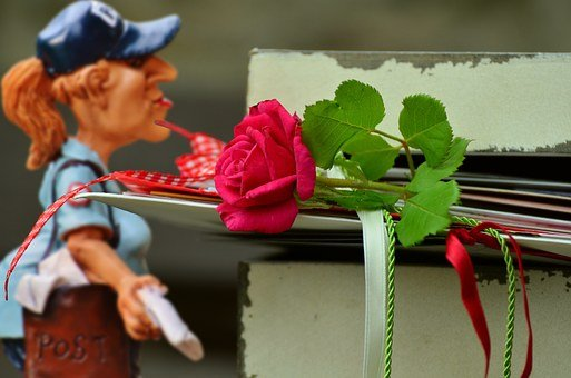 Valentine's Day, Letters, Love Letter, Mailwoman, Post