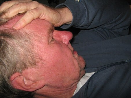 Man, Face, Hand, Keep, Forehead, Headache