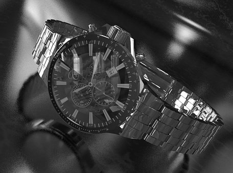Watch, 3d, Graphics, Ticker, Men's Watch