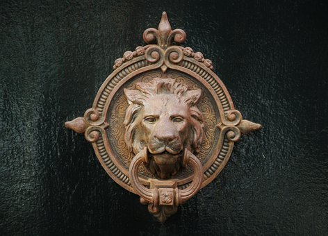 Door Handle, Door, Door Lock, Doorknocker, Brass, Metal