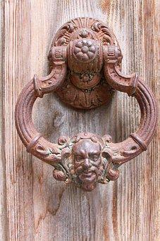 Door Handle, Door, Brass, Doorknocker, Door Lock, Metal