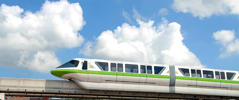 Mono Rail, Train, Tram, Transportation, Monorail, Track