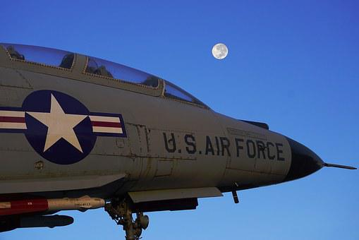 Us Air Force, Fighter Jet, Moon, Buffalo, Aircraft