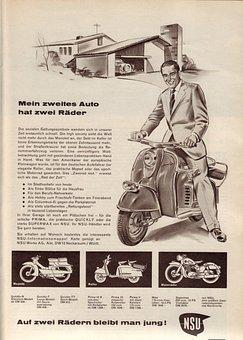 Motorcycle, Motor Scooter, Vehicle, Nsu, Nostalgia, Old