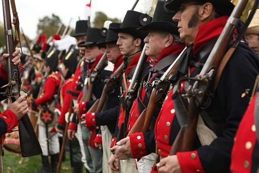 Soldiers, Musket, Canada, War, Civil, Soldier, Infantry