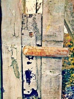Door, Door Knob, Garden, Goal, Input, Old, Vintage