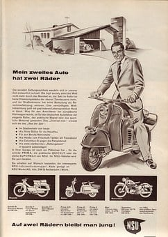 Motorcycle, Motor Scooter, Vehicle, Nsu, Nostalgia, Old