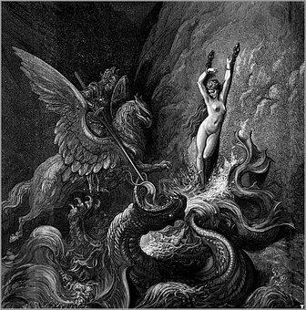 Opera, Orlando Furioso, Poster, Perseus And Andromeda