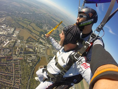 Parachute, Tandem, Skydive, Sport, Extremely