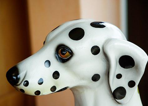 Dog, Dalmatian, Snout, Statue, Portrait Of Animals