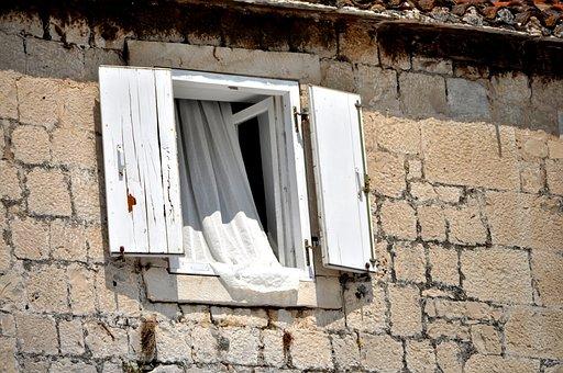 Window, Dalmatian Window, Riva, Waterfront, Trogir