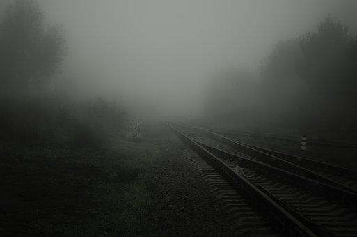 Fog, Road, Rails, Sleepers, Railway, Road To Nowhere