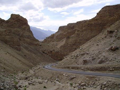 Mountains, Ladakh, Road, Rocks, Bare, Denuded