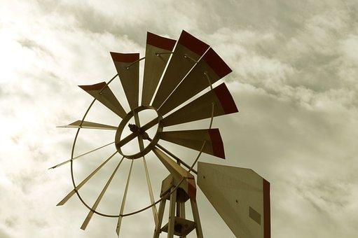 Wind, Windmill, Cloudy, Energy, Turbine, Rotating