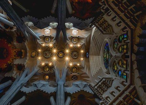 Ceiling, Cathedral, Sagrada Família, Barcelona