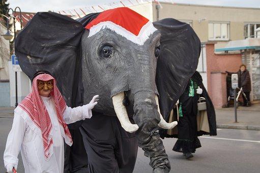 Elephant, Sheikh, Tamer, Animal Trainer, Figure, Fool