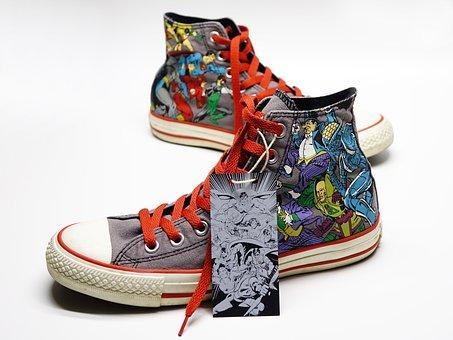 Shoe, Canvas, Sneakers, Casual, Converse, Super Hero