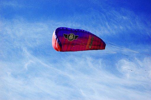 Paragliding, Sail, Parachute, Paraplane, Extreme, Sky