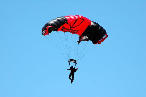 Skydiver, Parachute, Extreme Sport, Skydiving