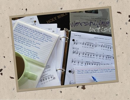 Bible, Worship, Music, Coffee, Song, Musical, Staff
