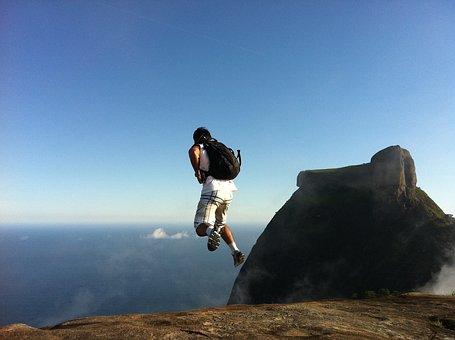 Skydiving, Pedra Da Gávea, Blue Sky, Sport, Jump