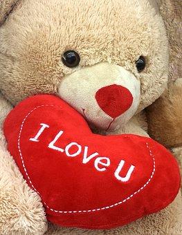 I Love You, Love, You, Heart, Red, Bear, Teddy Bear