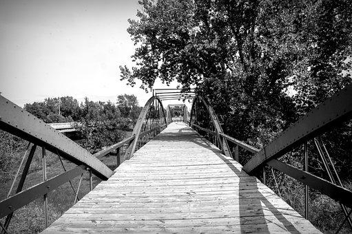 Bridge, Water, River, Architecture, Landscape, Landmark