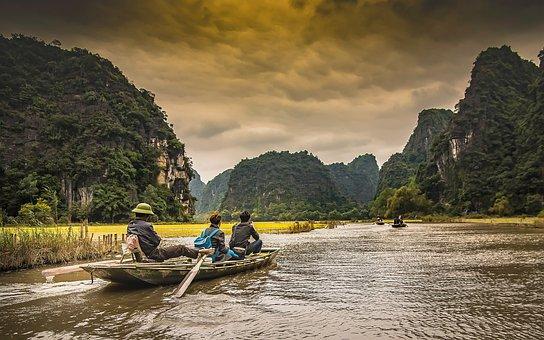 Vietnam, River, Asia, Travel, Water, Natural, Green