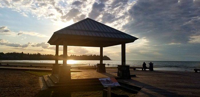 Sunset, Beach, Summer, Sea, Sky, Nature, Dusk, Coast