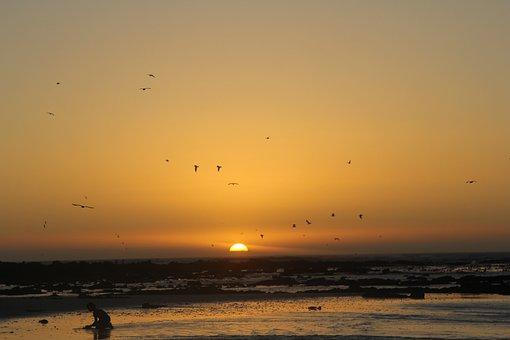 Sunset, South, Africa, Summer, Sun, Outdoor, Sea, Beach