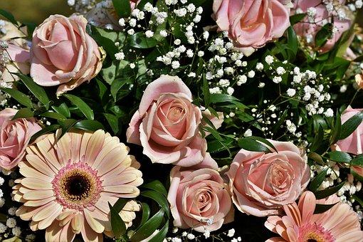 Bouquet Of Roses, Bouquet, Floral Arrangement, Flowers
