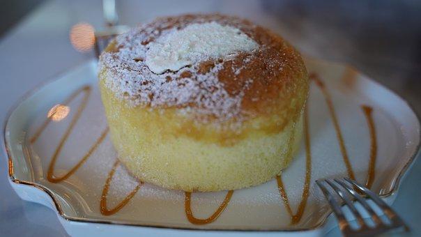 Bread, Dessert, Fork, Food, Sweet, Confectionery, Cafe
