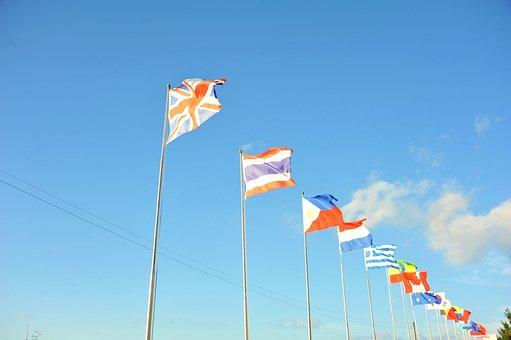 Sky, Flag, Symbol, Country, Wind, Cloud, Patriot