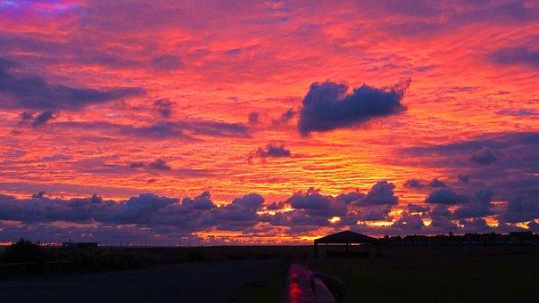 Dawn, Sunrise, Sea, Coast, Sky, Nature