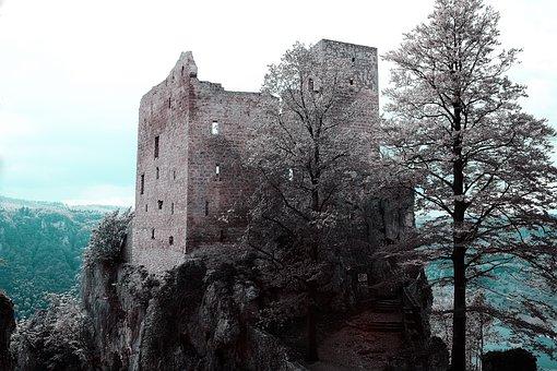 Castle, Middle Ages, Building, Landscape, Fortress