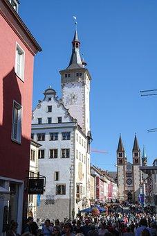 The City Hall Of Würzburg, Graf Eckart, Town Hall Tower